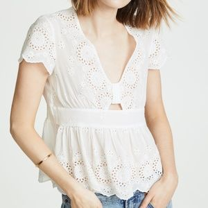 NWT Free People Truly Yours Ivory Top